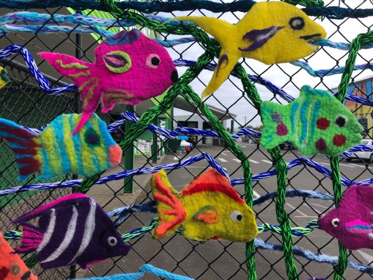 Yarn Bomb Fish